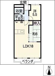 豊ハイツ[4階]の間取り