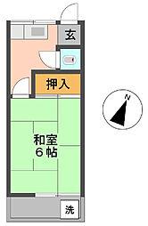 野村荘[205号室]の間取り