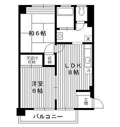 東京都板橋区向原の賃貸マンションの間取り