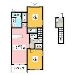 アン・ルポゼ[2階]の間取り
