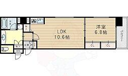 リーガル新大阪駅前2 4階1LDKの間取り