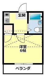愛知県豊田市広路町1丁目の賃貸アパートの間取り