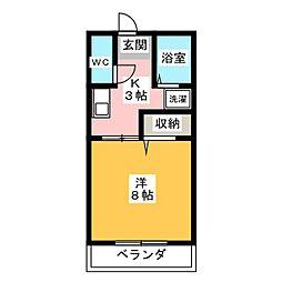 エミナコレージュII[1階]の間取り