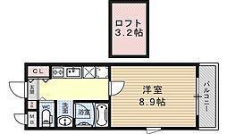 サンモールコート十条[101号室号室]の間取り