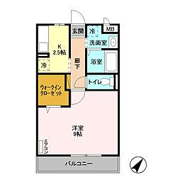 D-Room 八反野[203号室]の間取り