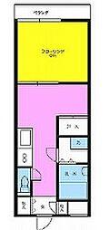 ペンタスマンション[305号室]の間取り