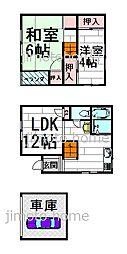 [テラスハウス] 大阪府豊中市上野西3丁目 の賃貸【/】の間取り