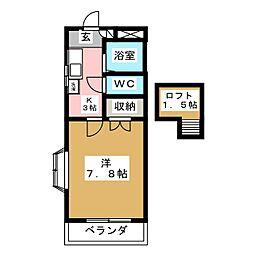 K−ハウス壱番館[2階]の間取り