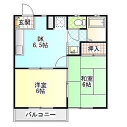メゾンOKUTSU A[201号室]の間取り