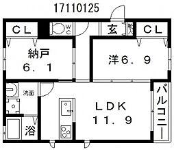 麗風苑[2階]の間取り