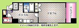 ボヌール千田[203号室]の間取り