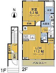 神奈川県逗子市久木1丁目の賃貸アパートの間取り