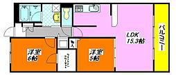 ソリエ・ベーネ 201号室[2階]の間取り