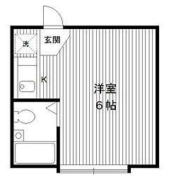 東京都中野区江原町の賃貸アパートの間取り