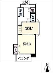 ピトレスク21[6階]の間取り