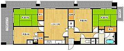 ライオンズマンション久留米ガーデン[11階]の間取り