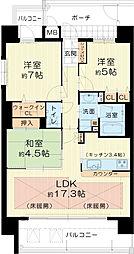 新築分譲貸しマンション[3階]の間取り