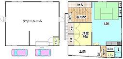 [一戸建] 和歌山県和歌山市向 の賃貸【/】の間取り