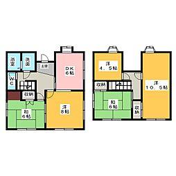 [一戸建] 静岡県浜松市中区佐鳴台4丁目 の賃貸【/】の間取り
