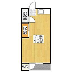 中島町マンション[105号室]の間取り