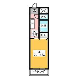 PLUS O2[3階]の間取り