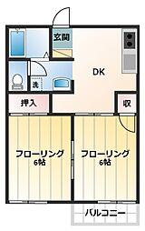 コーポ杉田No.1[106号室]の間取り