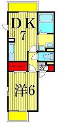 FLAT TENJIN[1階]の間取り
