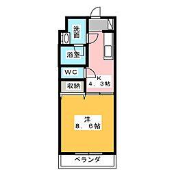 アンソレイユI[3階]の間取り