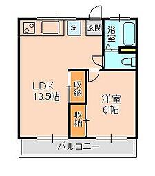 ラ・フォンテ松戸[2階]の間取り