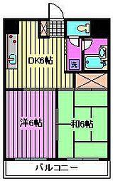 モンシェール寿能[3階]の間取り
