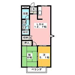 ロイヤル・プライベート・メゾンB[1階]の間取り