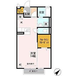 静岡県三島市南二日町の賃貸アパートの間取り