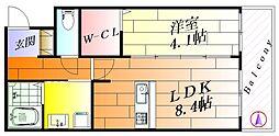 アヴェニール千里丘東[2階]の間取り