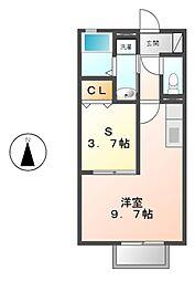 エスポワール豊田[1階]の間取り