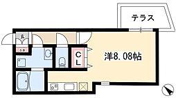 Branche覚王山 1階ワンルームの間取り