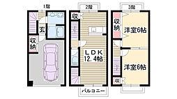 [テラスハウス] 愛知県長久手市久保山 の賃貸【/】の間取り