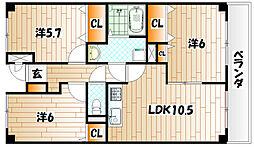 ユーアイマンション赤坂[2階]の間取り