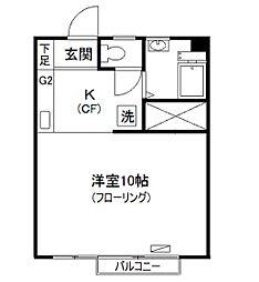 東京都杉並区荻窪4丁目の賃貸マンションの間取り