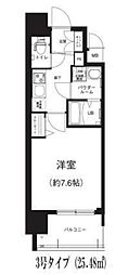 Osaka Metro谷町線 谷町六丁目駅 徒歩8分の賃貸マンション 4階1Kの間取り