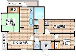 兵庫県神戸市長田区大塚町5丁目の賃貸マンションの間取り