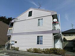 京都府京都市左京区岩倉西河原町の賃貸アパートの外観