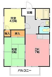 グリーンヒル鎌倉[2階]の間取り