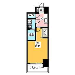 S−RESIDENCE四日市元町 2階1Kの間取り