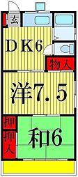 シャトー山崎[202号室]の間取り