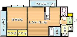 ウィングス八幡駅前[8階]の間取り