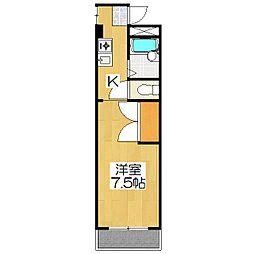 グレースハウス[3B号室]の間取り