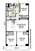 9階部分南向につき陽当り眺望良好全室収納付、Wic2ヶ所新設