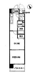 アミスタ菅原[5階]の間取り