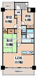 イトーピア枚岡公園[11階]の間取り