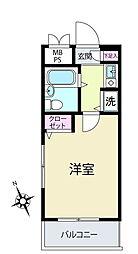 クレッセント川崎[4階]の間取り